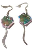Pink stingray earrings aluminum 30 - $20.00