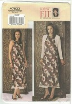 Vogue 7823 Sandra Betzina Pattern Bolero Jacket & Bias Cut Dress Size DE... - $11.75