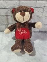 Goffa International Plush Bear Joy In Jesus 12 Inch Brown Animal Toy Kids - $17.51
