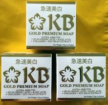 3 KB Gold Premium Whitening Arbutin Kojic Acid Placenta Soap 135g each - $55.44