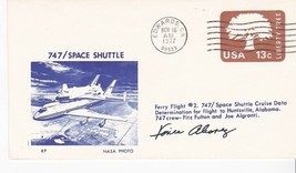 SHUTTLE FERRY FLIGHT #2 EDWARDS CA 11/16/1977 AUTOGRAPHED VINCE ALVAREZ ... - $12.18