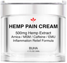 Premium Hemp Pain Relief Cream Pure 500mg Extract Relieves Muscle Back &... - $29.65