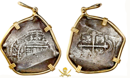 1715 FLEET SHIPWRECK 1714 8 REALES GOLD PENDANT JEWELRY PIRATE GOLD COIN... - $5,950.00