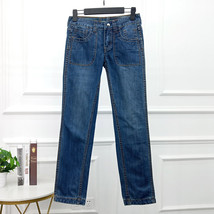 Women's clothing cotton low-rise Reversible two-way wear Jeans #1102AO - $35.00