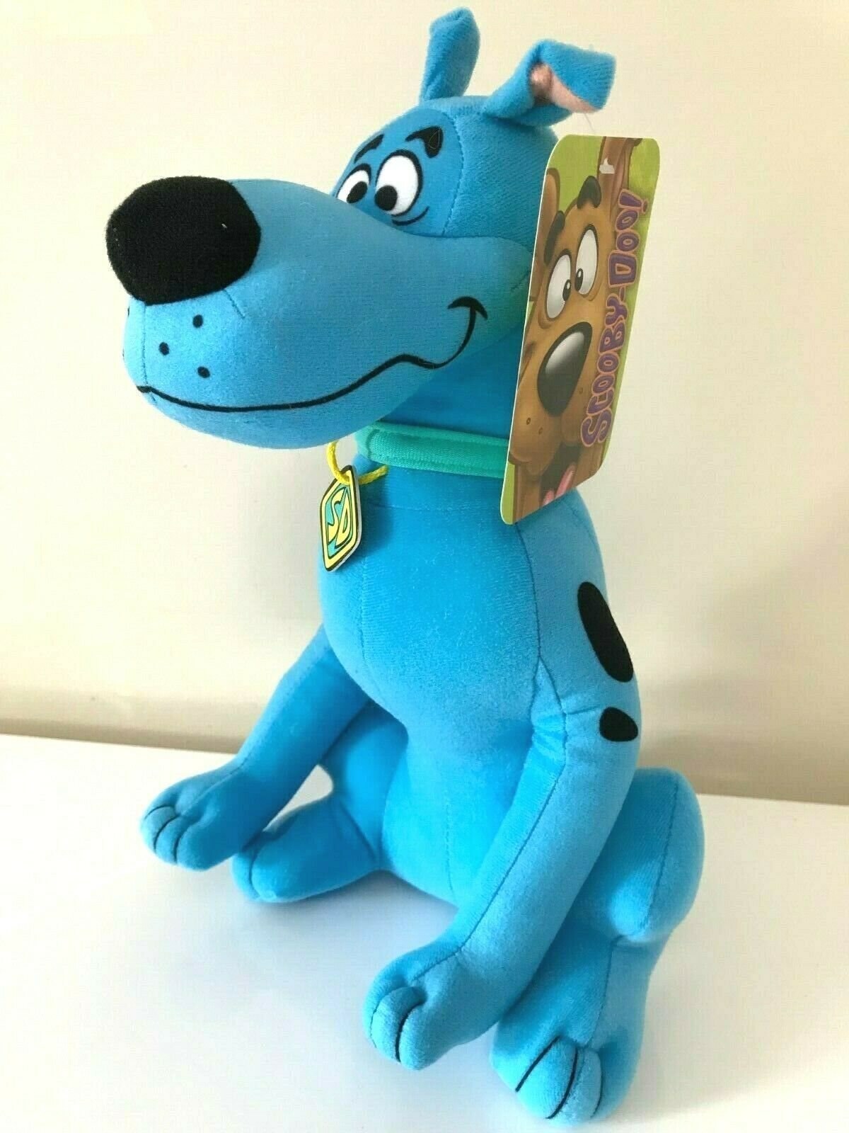 """New Scooby -Doo Plush Toy Fluorescent Blue. Large 12"""". Soft. Licensed. NWT - $13.71"""
