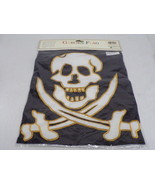 VINTAGE SEALED 1999 Evergreen 12x16 Pirate Stitched Garden Flag - $23.15