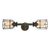 Farmhouse 2-Bulb Bathroom Vanity Light, 2-Bulb E-26 Edison Bulbs, Industrial  - $145.00