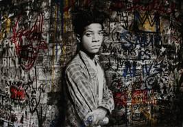 "Mr Brainwash oil Painting on Canvas graffiti art Jean Michel Basquit 28x36"" - $29.69"