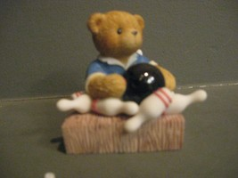 ENESCO CHERISHED TEDDIES # 731870 BRYCE I SCORED A STRIKE WHEN I MET YOU - $17.77