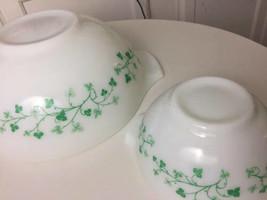Pyrex Chip and Dip Set Green Ivy Promo Cinderella Bowls 441 444 - $99.98
