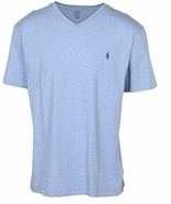 Polo Ralph Lauren Big and Tall Mens Blue  V neck T-Shirt NWT Size XXL  - $20.56