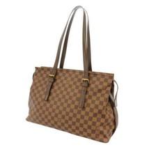 LOUIS VUITTON Chelsea Damier Canvas Ebene Gold HW N51119 LV Shoulder Bag... - $860.95