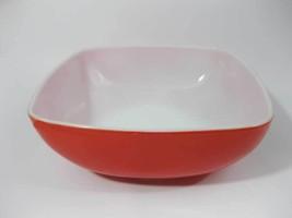 Vintage Square Primary Color Red 2-1/2 Quart Bo... - $15.00
