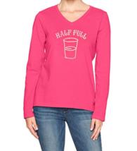 Small 4-6 Life is Good Women's Crusher Half Full Long Sleeve Tee T-Shirt Shirt