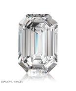 1.50ct F-VS1 Ideal Cut Emerald AGI 100% Genuine Diamond 7.70x6.07x3.70mm - $8,127.90