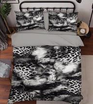 3D Animal Hair 2 Bed Pillowcases Quilt Duvet Cover Set Single Queen King Size AU - $64.32+