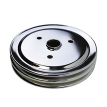 Crankshaft Pulley Double-Groove SWP Short Water Pump For Chevy SBC 262 327 350 image 2