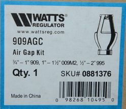 Watts 0881376 Regulator Air Gap Kit 909AGC Three Quarters by One inch image 7