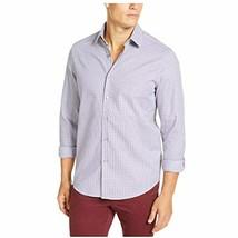 Tasso Elba Men's Collared Long Sleeve Dobby Woven Button Down Shirt (Gra... - $6.87