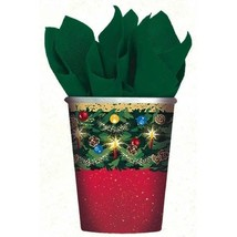 Warmth of Christmas 9 oz Hot Cold Paper Cups 8 Ct - €2,82 EUR