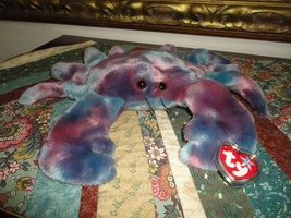 Ty Original Beanie Buddy Collection 1999 Claude Crab with Tag and Protector - $57.83