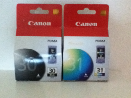 2 Pack Genuine Canon Ink Cartridge Set PG-30 PG30 Black & CL-31 CL31 Color - $36.49