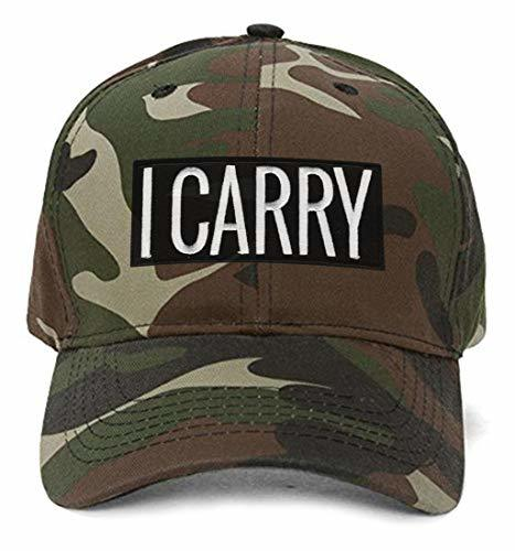 I CARRY Pro Gun Rights Hat - Adjustable Camo Cap - Shipped from USA
