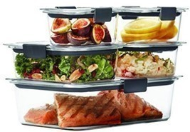 Rubbermaid Brilliance Food Storage Container, 100% Leak Proof, BPA-free Set - €35,66 EUR