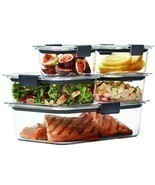 Rubbermaid Brilliance Food Storage Container, 100% Leak Proof, BPA-free Set - $867,57 MXN