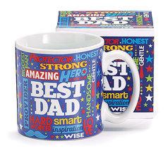 Mr. Dad Ceramic Mug with Box, Multicolor, Burton & Burton - $11.99