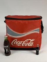 Soft Padded Insulated 1990's Coca-Cola Insulated Cooler W/Strap & Bottles - $34.65