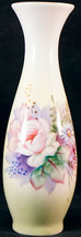 Lefton China Hand Painted Bud Vase 5203 Nice Flowers Original Sticker - $24.99