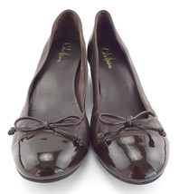COLE HAAN Size 9 AIR TALI Brown Cap Toe Wedges Heels Shoes - $64.00