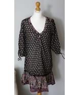 H&M Boho Tunic Dress Print Boho Floral Gypsy - $19.99