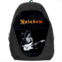 backpack rainbow blackmore rock band student school bag bookbag - $39.79