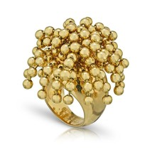 Cartier Yellow Nouvelle Vague Dangling Beads 18k Gold Ring Size: 4.5 - $12,000.99