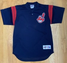 Vintage Cleveland Indians Mesh BP Spring Training Jersey Chief Wahoo Medium USA - $40.05