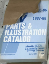 1988 Chevy R V 10 20 30 Camion Suburban Blazer G Van Parts Catalogue Man... - $59.26