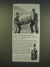 1990 Jack Daniels Whiskey Ad - At Jack Daniel's Distillery, sturdy barre... - $14.99