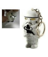 LED STORMTROOPER KEYCHAIN w LIGHT and SOUND Toy Keyring Key Chain Ring S... - $6.95