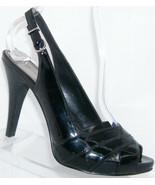 Alfani Valencia black man mde peep toe buckle slingback platform heels 6M - $21.55