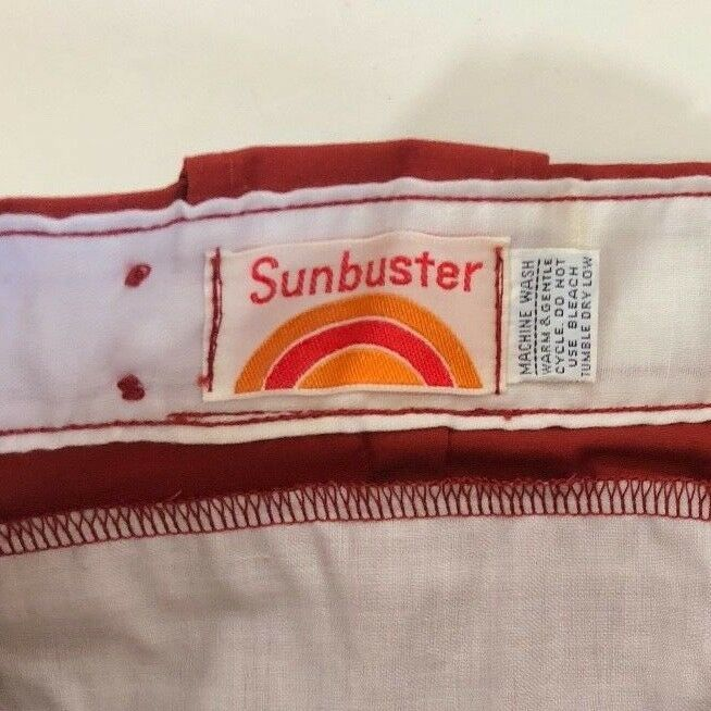 VTG 70s Sunbuster Womens Size 28 Cropped Ski Pants Knickers Brick Red image 4