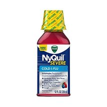 Vicks NyQuil Cough Cold and Flu Nighttime Relief (Severe Berry, 3 PK) - £33.56 GBP