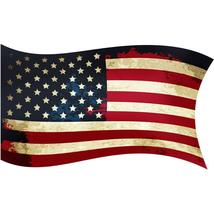 VWAQ US Flag Wall Decal Americana Wall Stickers Vintage American Flag De... - $8.99+