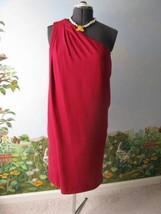 Diane von Furstenberg DVF Liluye Short Crimson Silk 1 Shoulder Dress Size 10 New - $187.11