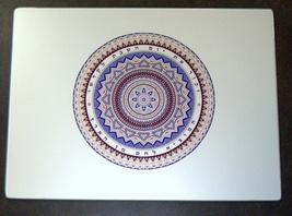 Judaica Challah Tray Cutting Board Reinforced Glass Shabbat Colorful Mandala  image 2