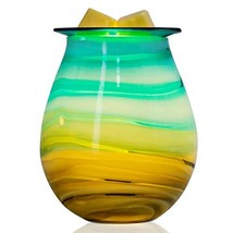 EQUSUPRO Glass Electric Wax Melt Warmer Incense Wax Tart Burner Fragrance Night  - $22.98