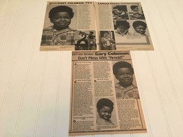 Gary Coleman teen magazine pinup clippings Different Strokes Free Shipping - $12.00
