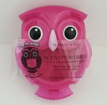 Retired Pink Owl Scentportable Bath Body Works Wings Flap Car No Disc Visor Clip - $13.95