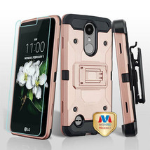 Rose Gold/Black 3in1 Kinetic Hybrid Cover Combo for LG Tribute Empire/Ar... - $14.56